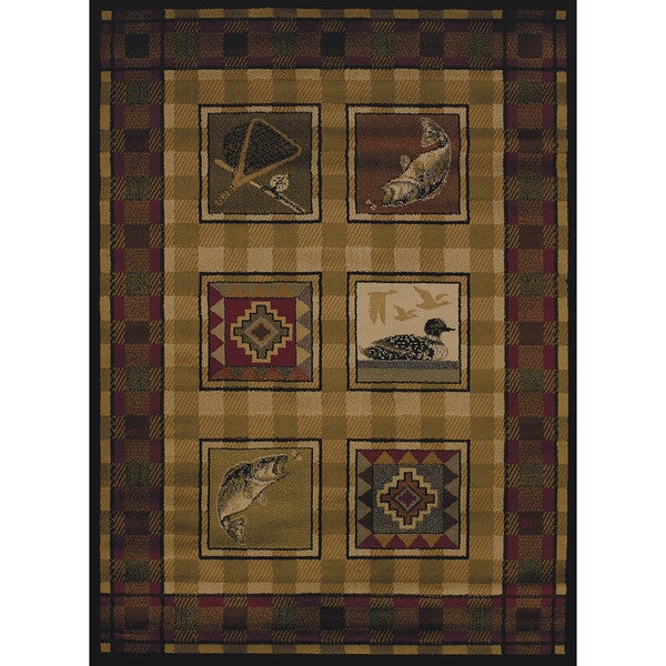 Copper Grove Carson Fish & Bird Area Rug - 5'3 x 7'2