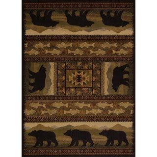 Harmony Bear Walk Lodge Accent Rug (1'10 x 3')|https://ak1.ostkcdn.com/images/products/10543591/P17623914.jpg?impolicy=medium
