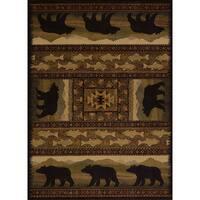 Pine Canopy Bighorn Bear Accent Rug (1'10 x 3')