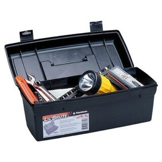 Flambeau Hardware 14-inch Black Brute Tool Box With Lift-Out Tray