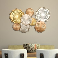 Strick Bolton Sinatra Multi Metallic Circles Wall Decor