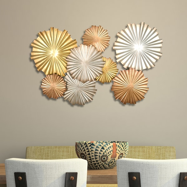 Stratton Home Decor Multi Metallic Circles Wall