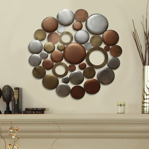 Home Interior Products: Shop Stratton Home Decor Multi Metallic Circle Burst Wall