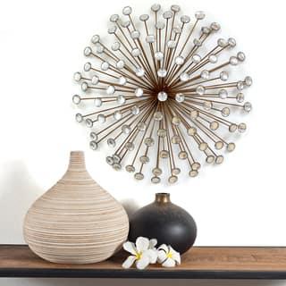 Stratton Home Decor Bronze Acrylic Burst Wall Decor|https://ak1.ostkcdn.com/images/products/10543750/P17623985.jpg?impolicy=medium