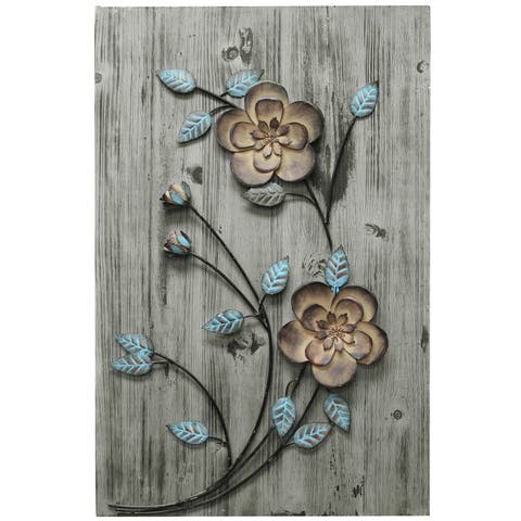 Copper Grove Rustic Floral Panel II