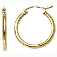 Versil 10k Yellow Gold Polished Hinged Hoop Earrings