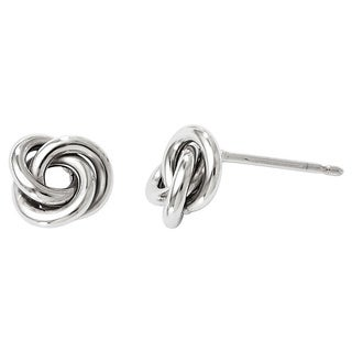 Versil 10k White Gold Polished Post Earrings