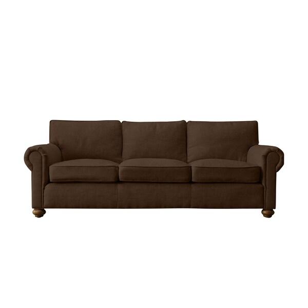 Chocolate Linen Bushwick Made to Order Sofa