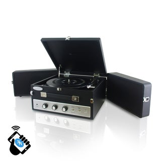 Pyle Retro Bluetooth Turntable Record Player with Vinyl-to-MP3 Recording