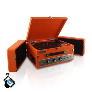 Pyle PLTT82BTOR Retro Vintage Classic Style Bluetooth Turntable Record Player with Vinyl-to-MP3 Recording (2 Color Options) (Option: Orange)|https://ak1.ostkcdn.com/images/products/10543973/P17624189.jpg?impolicy=medium