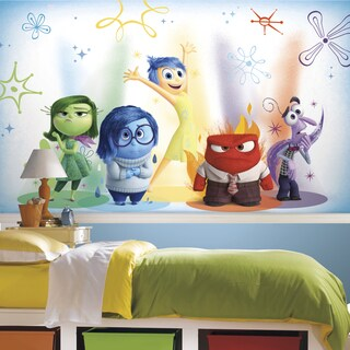 Roommates Inside Out XL Chair Rail Prepasted Mural, Ultrastrippable