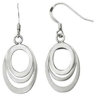 Versil Sterling Silver Polished Shepherd Hook Dangle Earrings|https://ak1.ostkcdn.com/images/products/10544028/P17624356.jpg?impolicy=medium