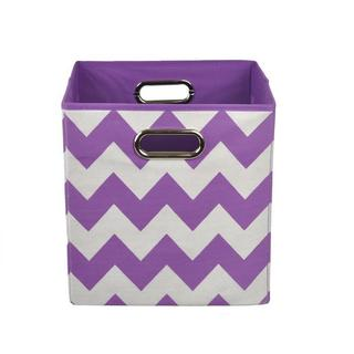 Color Pop Purple Chevron Folding Storage Bin
