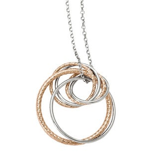 Versil Sterling Silver Rose-tone Flash-plated 16-inch Necklace with 2-inch Extension