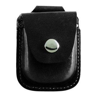 Versil Charles Hubert Black Leather Holder For Up To 52mm Pocket Watch