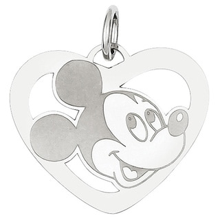 Versil Sterling Silver Disney Mickey Heart Charm