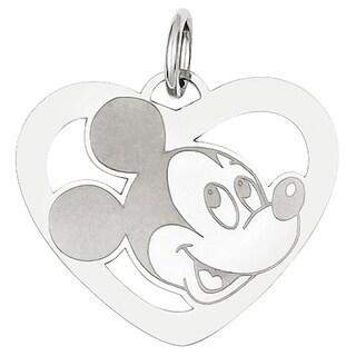 Versil Sterling Silver Disney Mickey Heart Charm