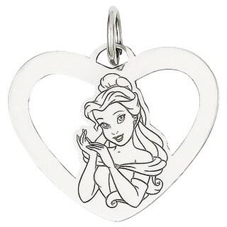 Versil Sterling Silver Disney Belle Heart Charm