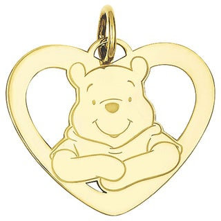 Versil Goldplated Sterling Silver Disney Winnie the Pooh Heart Charm