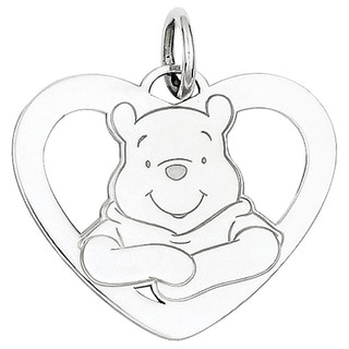 Versil Sterling Silver Disney Winnie the Pooh Heart Charm