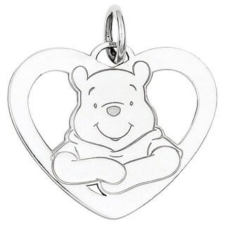 Versil Sterling Silver Disney Winnie the Pooh Heart Charm