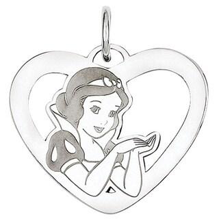 Versil Sterling Silver Disney Snow White Heart Charm