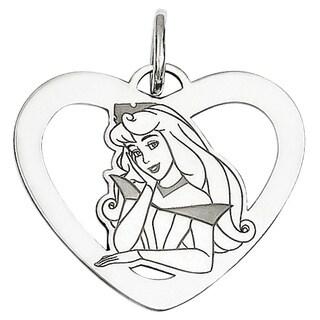 Versil Sterling Silver Disney Aurora Heart Charm
