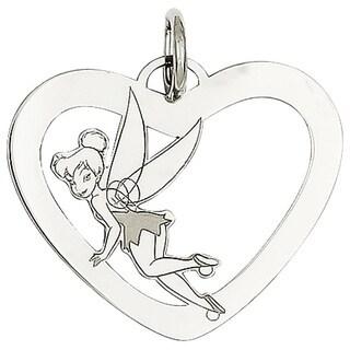 Versil Sterling Silver Disney Tinkerbell Heart Charm