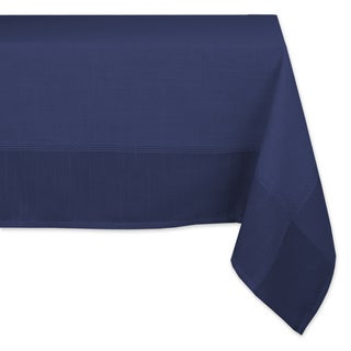 Poly Solid Border Tablecloth