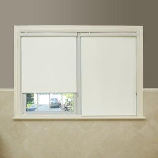 Aurora Home Premium Fabric Ivory Single Silk Roller Window Shade