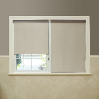 Premium Fabric Taupe Single Silk Roller Window Shade