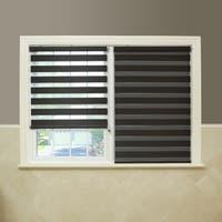 Aurora Home Premium Fabric Chocolate Sunshut Duo Blackout Window Shade