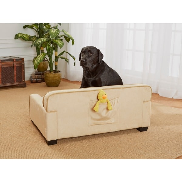 Peachy Shop Enchanted Home Pet Caramel Ultra Plush Library Pet Sofa Machost Co Dining Chair Design Ideas Machostcouk