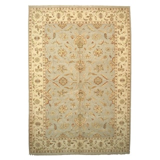 Hand-knotted Wool Gray Traditional Oriental Agra Rug (12'4 x 17'10)