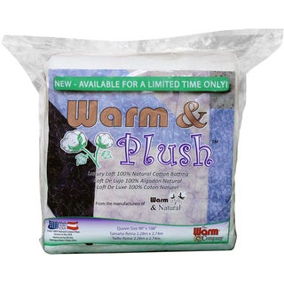 Warm & Plush Cotton Batting Queen Size
