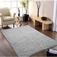Hand-woven Flokati Wool Shag Rug (5' x 8') - 5' x 8'