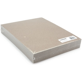 Medium Weight Chipboard Sheets 8.5 x 11 Natural (Pack of 25)