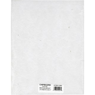 Medium Weight Chipboard Sheets 8.5 x 11 White (Pack of 25)