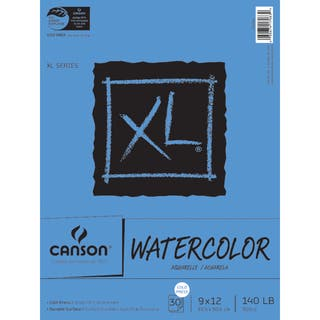 Canson XL Watercolor Paper Pad 9 x 12 (30 Sheets)|https://ak1.ostkcdn.com/images/products/10544326/P17624652.jpg?impolicy=medium