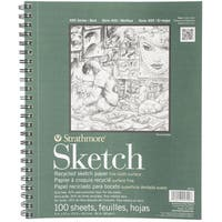 Strathmore Recycled Sketch Spiral Paper Pad 9inX12in100 Sheets