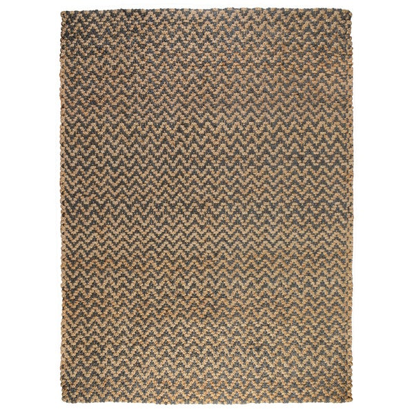 Kosas Home Handspun Harrington Jute Charcoal Rug (9'x12') - 9' x 12'