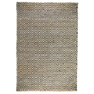 Kosas Home Kali Bleach/ Black Rug (8' x 10')