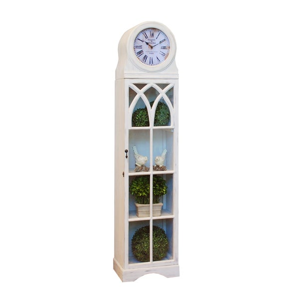 Shop Grandfather Clock Cabinet 76 Quot Tall White Free