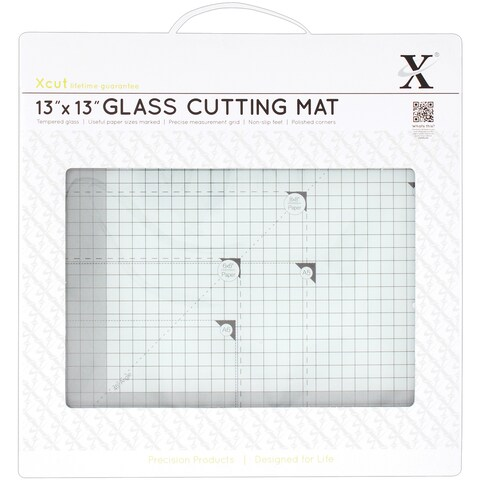 Xcut Tempered Glass Cutting Mat 13inX13in