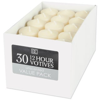 Unscented 12 Hour Votive Candles 1.3inX1.8in 30/PkgIvory
