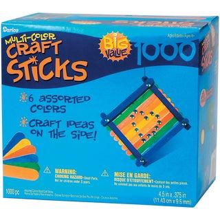 Jumbo Craft SticksColored 4.5in 1,000/Pkg