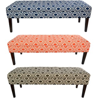 MJL Furniture Kaya Nicole 10-button Tufted Upholstered Long Bench