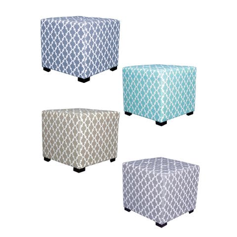 MJL Furniture Fulton 4-button Tufted Square Ottoman