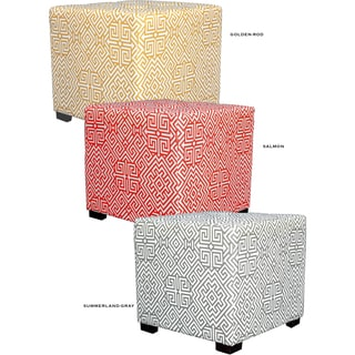 MJL Furniture Santorini 4-button Tufted Square Ottoman