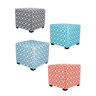 MJL Furniture Gigi 4-button Tufted Square Ottoman